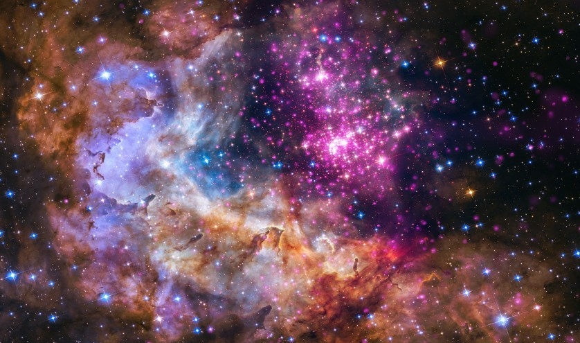 Star cluster, 20,000 light years from Earth.